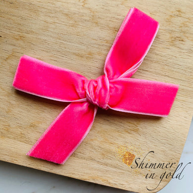 Barbie Hand Tied Velvet Bow