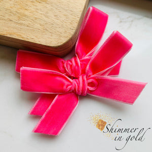Barbie Hand Tied Velvet Piggie Bows