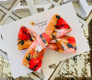 Autumn Floral Hand Tied Bow