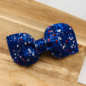 Blue Freedom Star Kinsley Bow