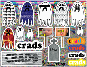 CRADS - Spooky Sticker Sheet - Limited Edition