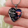 To My Daughter, You are Amazing (Sunset Beach) - Silver Finished Heart Necklace - podprintz.com