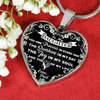 To My Daughter, You Are Precious - Silver Finished Heart Necklace (White Lettering) - podprintz.com
