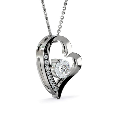 Forever Love Zirconia Heart Pendant Necklace