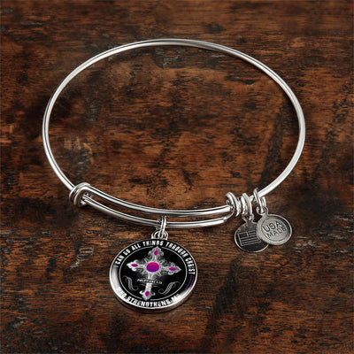 I Can Do All Things Through Christ - Silver Finished Circle Bangle Bracelet - podprintz.com