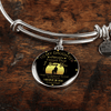 To My Daughter, Believe in Yourself, Love Dad - Silver Finished Circle Bangle Bracelet - podprintz.com