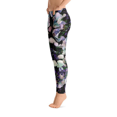 Purple Flowers Pattern Leggings