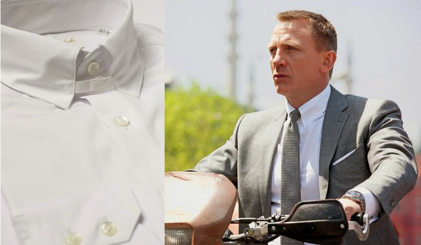 One of Daniel Craig's well known tab collars as James Bond.