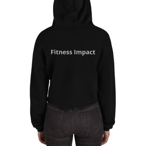 Women's Fashion Fitness Impact Crop Hoodie - Impact Performance Club