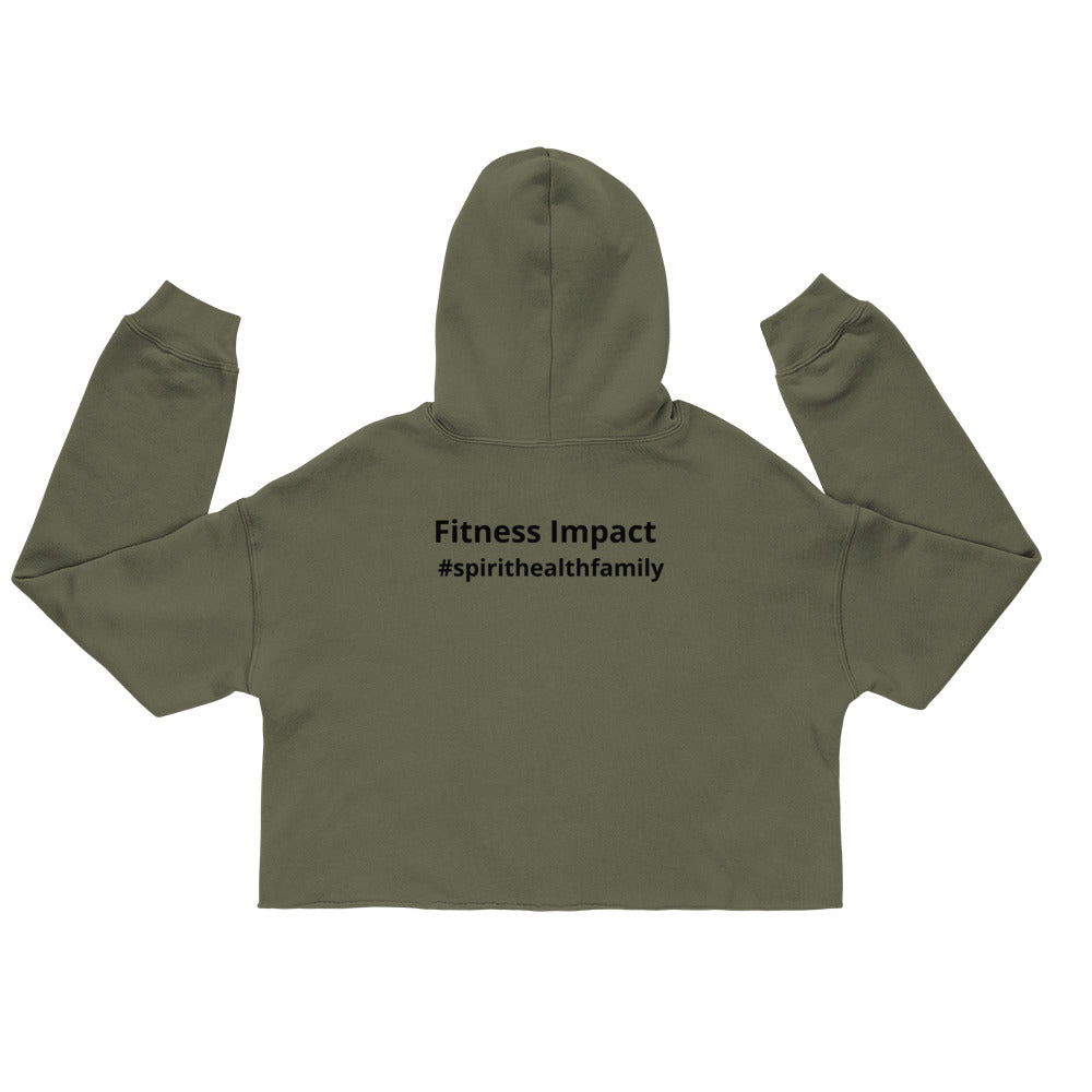 Women's Fashion Spirit Crop Hoodie - Impact Performance Club