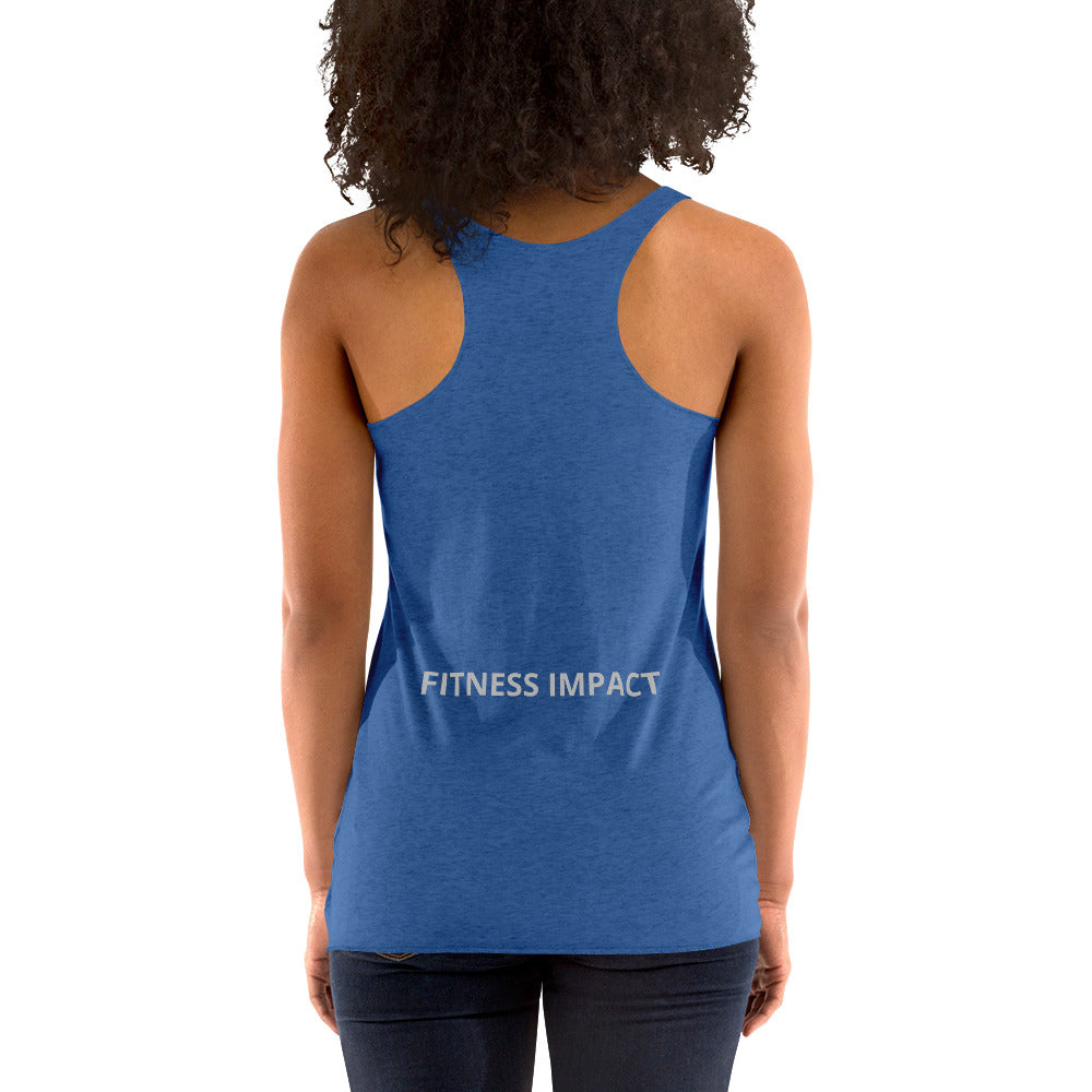 Women's Its Just Work Racerback Tank - Impact Performance Club