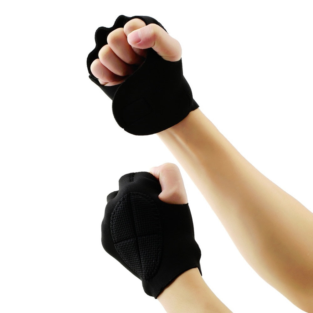 New Limitless Black Weight Lifting Fitness Gloves - Impact Performance Club