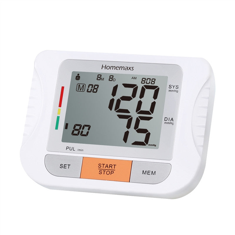 Portable LCD Display Fully Automatic Upper Arm Blood Pressure Monitor with Cuff