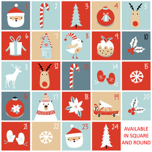 Glossy Christmas Countdown Advent Calendar Stickers How Many Sleeps