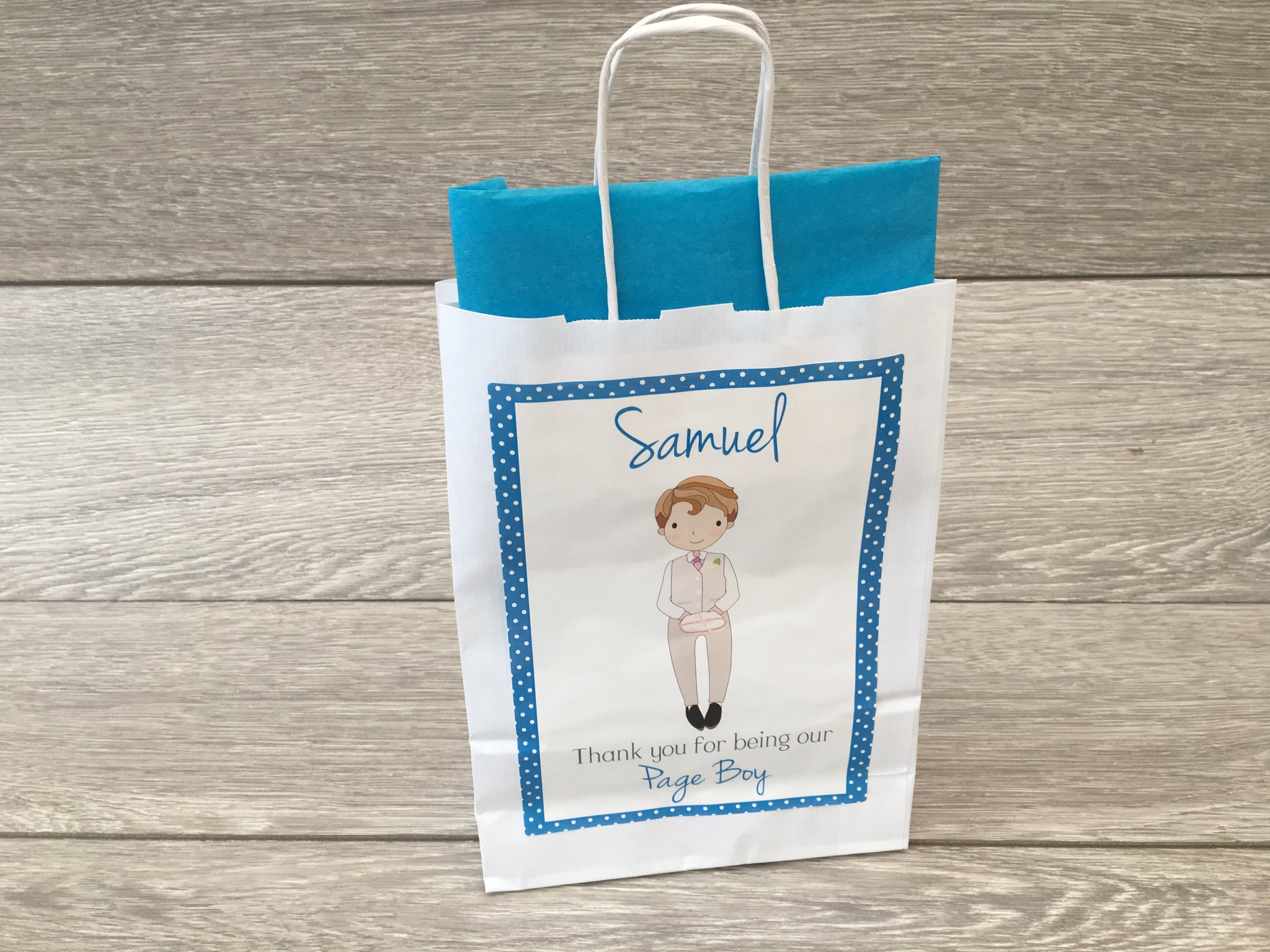Personalised Wedding Gift Favour Bag Flower Girl Page Boy