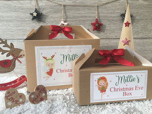 Personalised Handmade Christmas Eve Gift Box - Fairy 3 Hair Colour Options