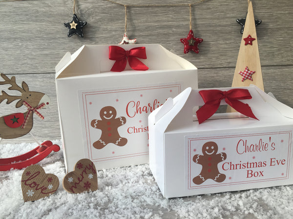 Personalised Handmade Christmas Eve Gift Box - Gingerbread Man