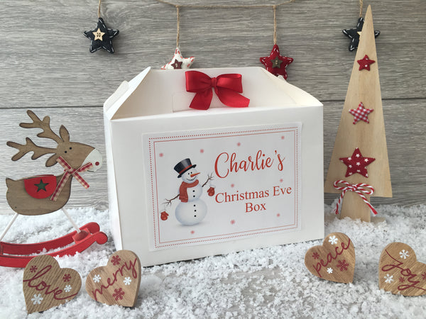 Personalised Handmade Christmas Eve Gift Box - Snowman