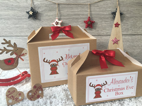 Personalised Handmade Christmas Eve Gift Box - Reindeer