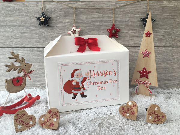 Personalised Handmade Christmas Eve Gift Box - Santa