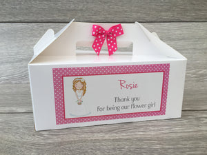Personalised Handmade Wedding Thank You Favour Children's Kids Activity Gift Box Flower Girl