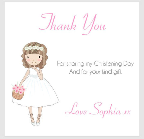Personalised Christening Thank You Note Cards