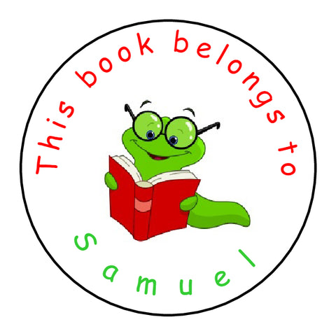 Personalised Glossy School Teacher Parents This Book Belongs To Stickers - Bookworm