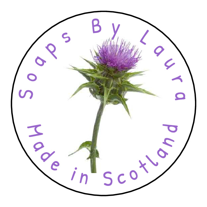 Personalised Handmade With Love By Stickers Thistle Crafts Flower Scottish Craft Projects