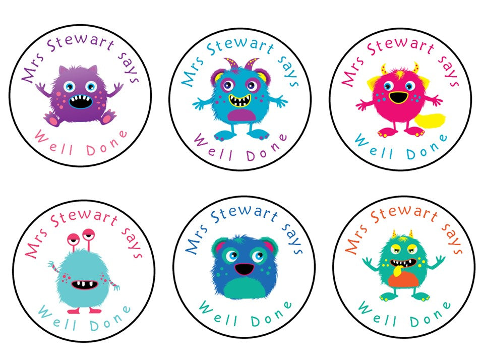 Personalised Reward Stickers For Teachers Parents Monsters