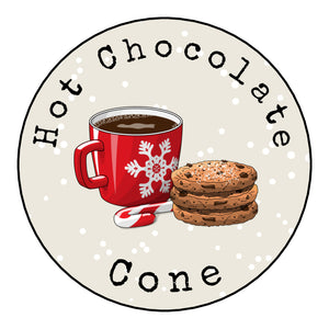 Personalised Round Glossy Christmas Food Hot Chocolate & Cookies