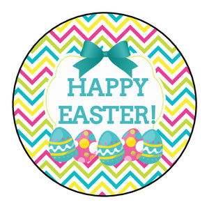 Personalised Glossy Happy Easter Stickers