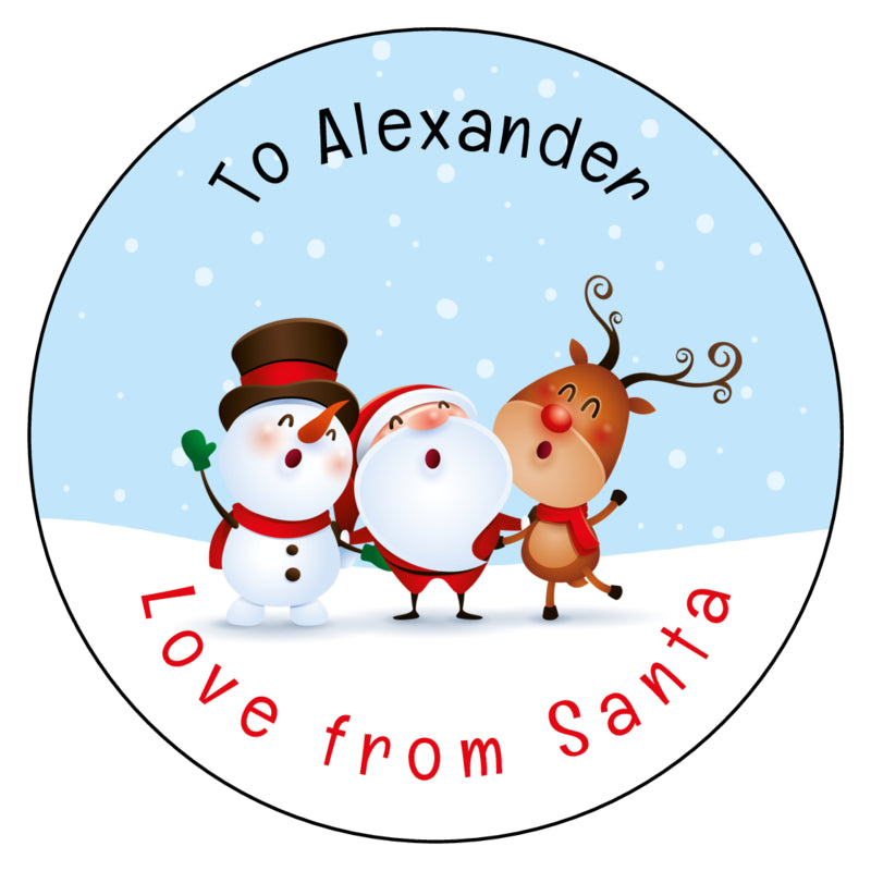 Personalised Christmas Present Gift Label Tag Stickers