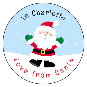 Personalised Christmas Present Gift Label Tag Stickers Santa