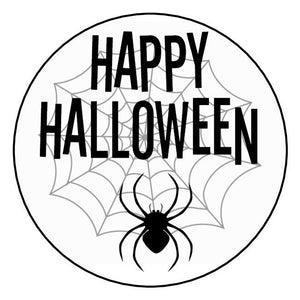 Gloss Happy Halloween Stickers Spiders Web