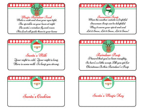 Christmas Xmas Stickers Craft Gift Snowman Soup Poop Santa Key Milk Cookies Food