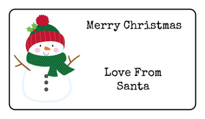 Personalised Snowman Christmas Present Gift Label Tag Address Stickers