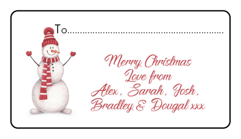 24 Personalised Christmas Xmas Stickers Labels Gift Tag Present Wrapping Seals