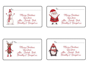 24 Personalised Christmas Stickers Gift Tag Present Wrapping Seals