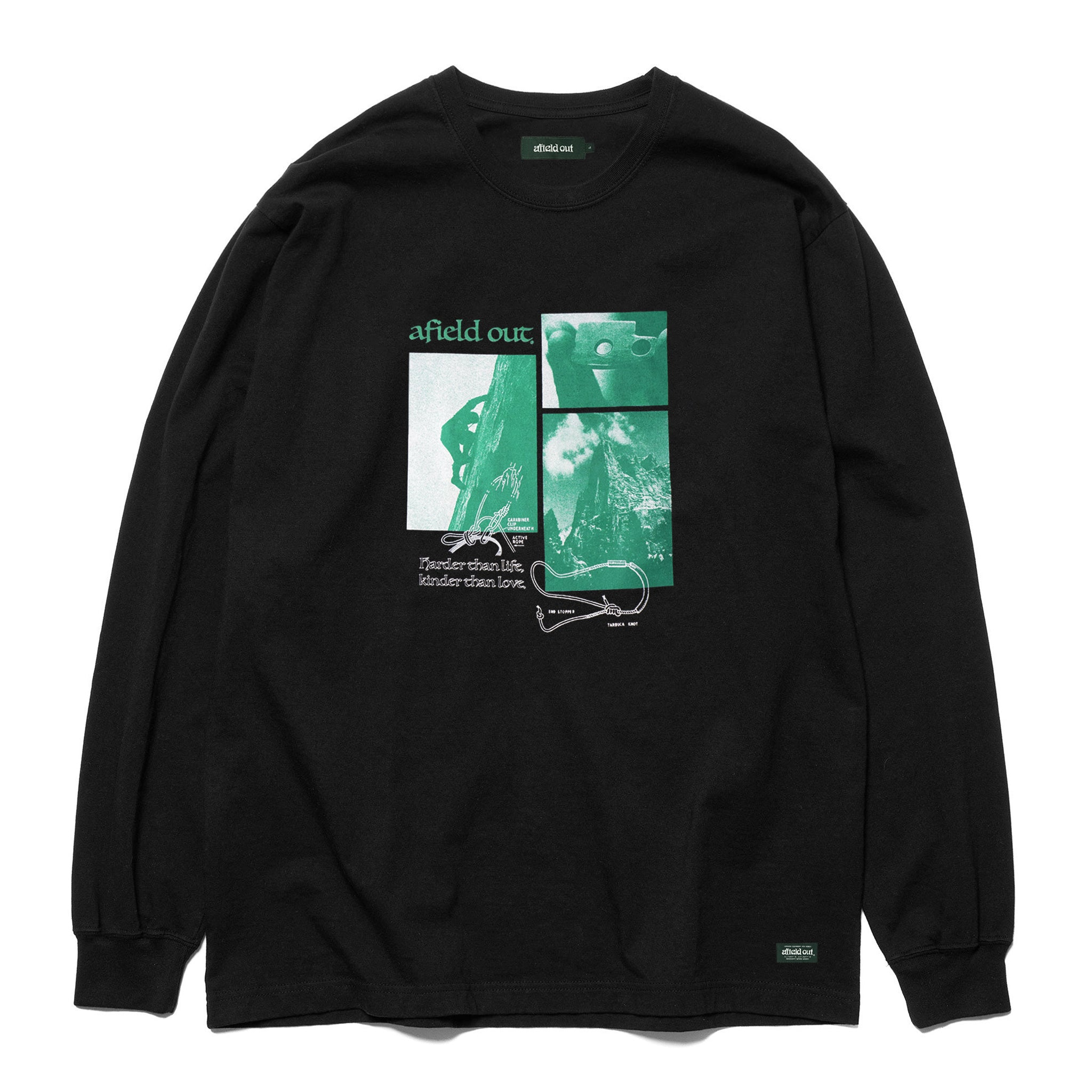 Black Crimp L/S T-Shirt