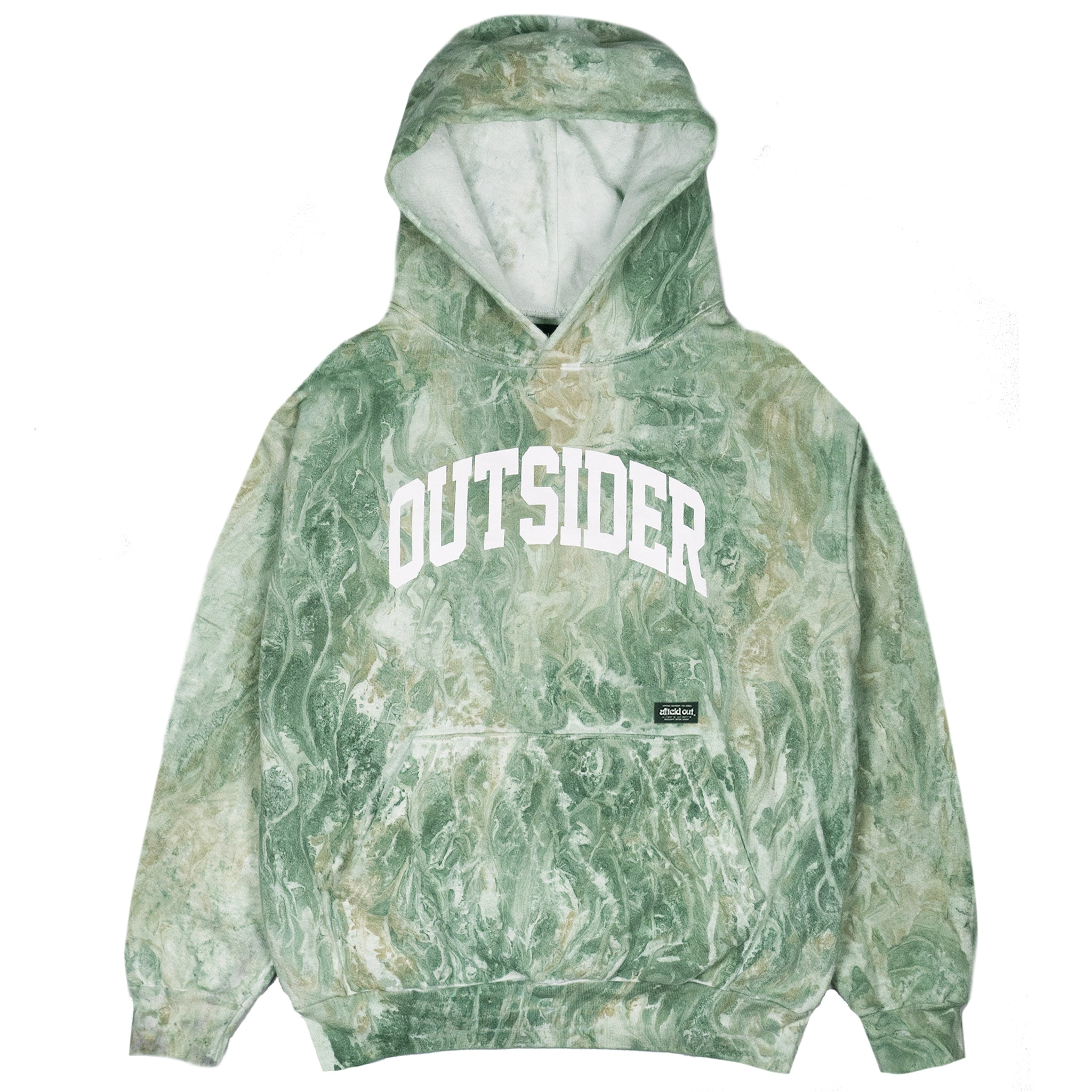 Green Outsider Marble Hoodie