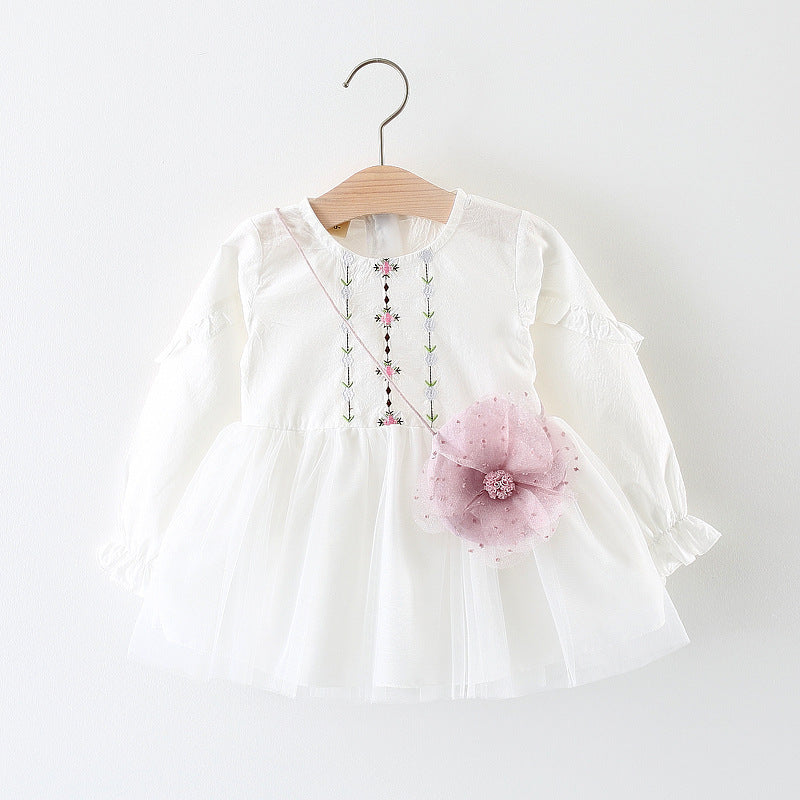 Mia Princess Embroidery Flower Dress