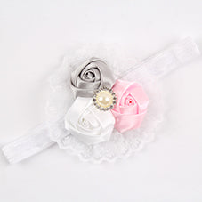 Nora Flower and Lace Headband