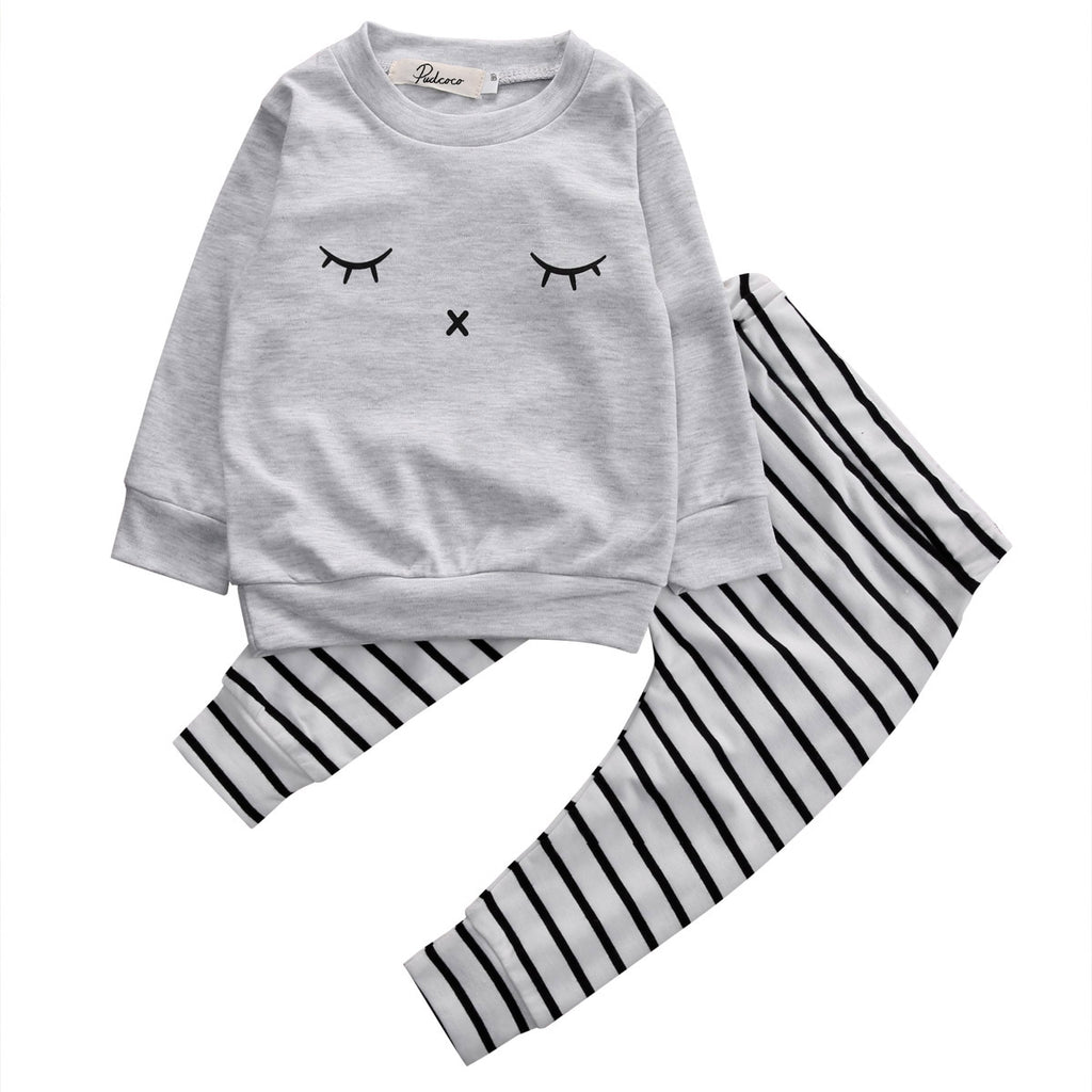 Alexander Sweatshirt Rabbit Print and Striped Leggings
