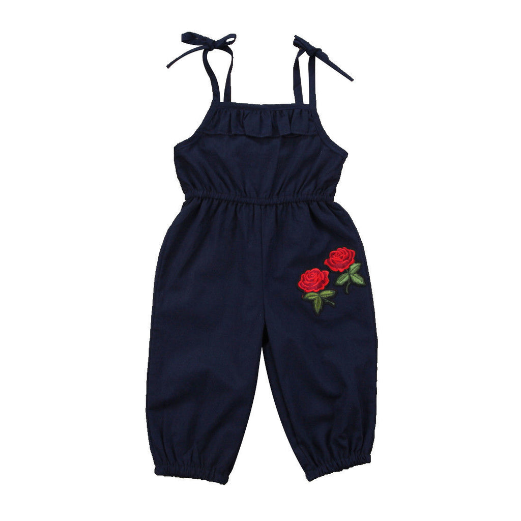 Riley Strap Flower Romper