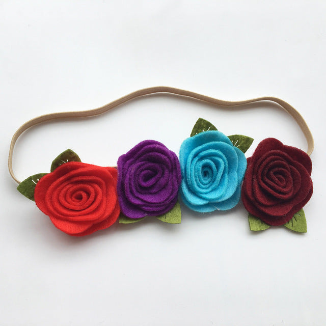 Rose Felt Flower Crown