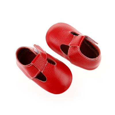 Genuine leather T-bar Moccasins