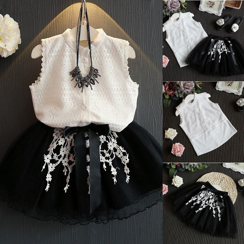 Lacy 2pcs Lace Blouse Tulle Skirt