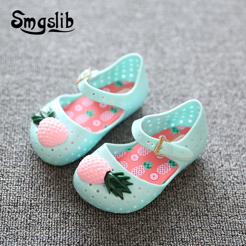 Pineapple Jelly Sandals
