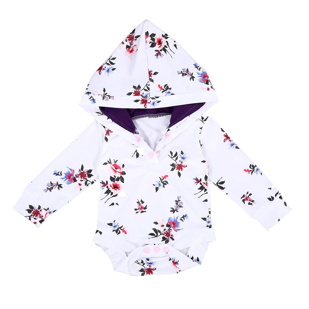 Hannah Floral Hooded Bodysuit