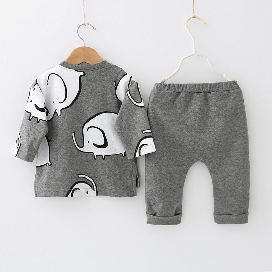 Gray Elephant Outfit Set